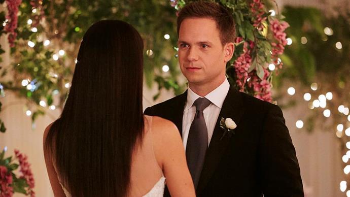 "Mike and Rachel say ""I do!"" Credit: *USA Network*"