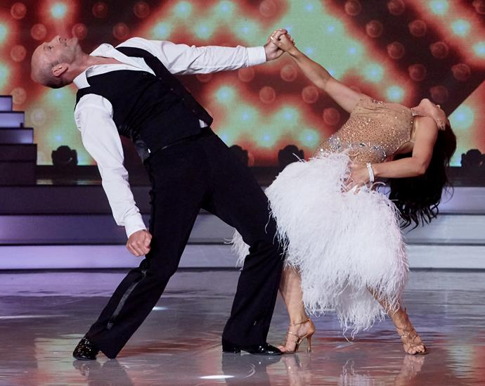 Not only was Vanessa dressed like a cygnet, her dance moves were reminiscent of an animal kingdom mating ritual.