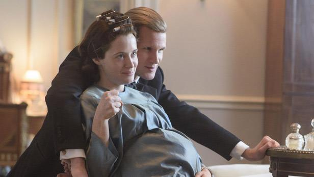 Claire Foy and Matt Smith in season two of *The Crown*