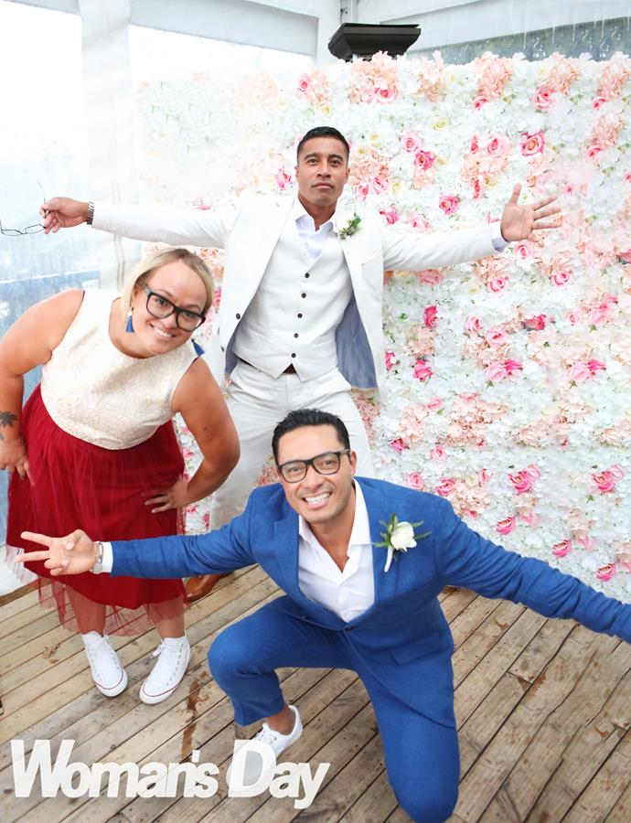 Flava of the day! The groom with his co-hosts Tarsh Ieremia and Sela.
