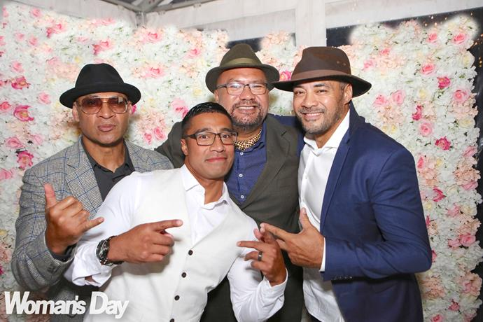 Robbie (right) strikes a pose with his bro and fellow Naked Samoans stars Mario Gaoa (left) and Dave Fane.
