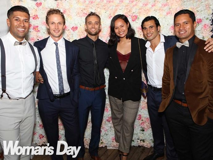 The *Shortland Street* contingent (from left) Te Kohe, Lukas, Luke, Frankie, Ben and Jarod.