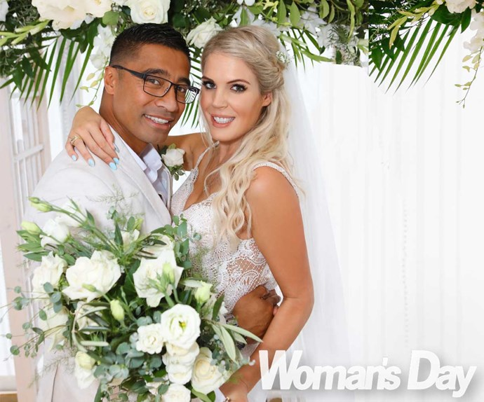 Shortland Street star Pua Magasiva's tearful wedding to Lizz Sadler