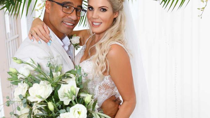 Shortland Street star Pua Magasiva's tearful wedding to Lizz Sadler
