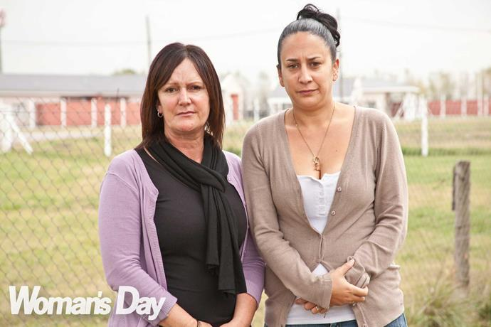 Sharon's sister Leanne and daughter Ariana (right) visited Sharon in jail, then were her rocks when she was released.