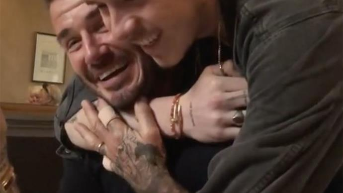 This video of Brooklyn Beckham surprising dad David on his birthday is making everyone weep