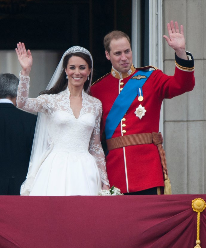 Duchess Kate and Prince William on their wedding day in 2011.