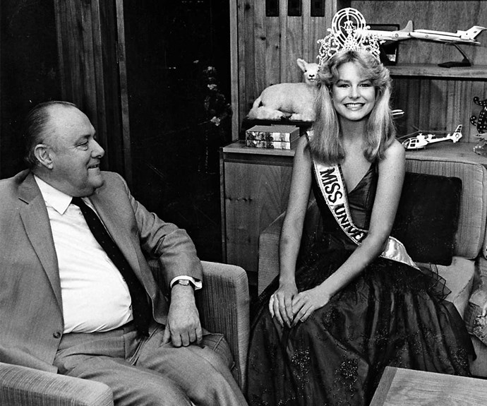 Lorraine with former prime minister Sir Robert Muldoon.