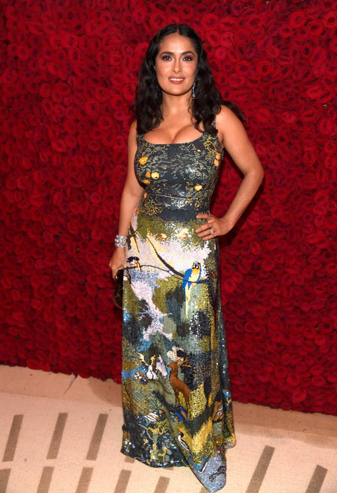 Salma Hayek looking gorgeous as always.