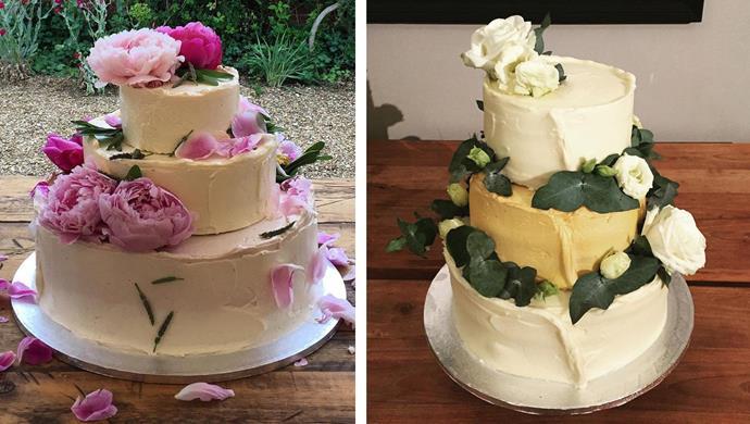 Two of Izaak's wedding cake creations.