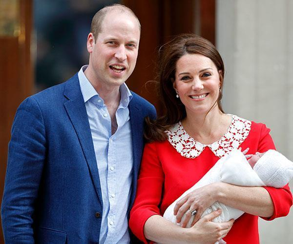 Prince Louis Arthur Charles of Cambridge just a few hours after he was born.