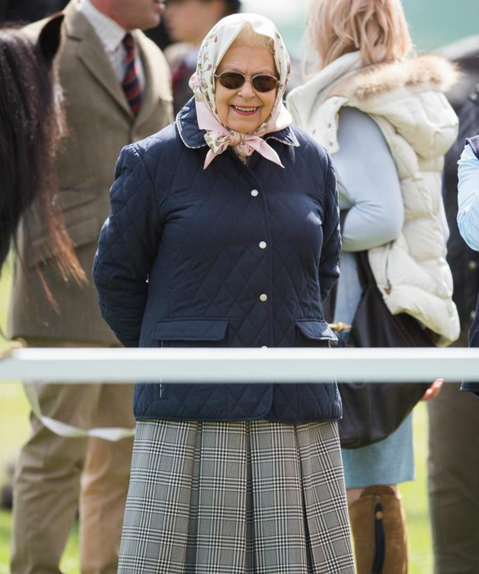 Her Majesty, 92, was also pictured at the annual event.