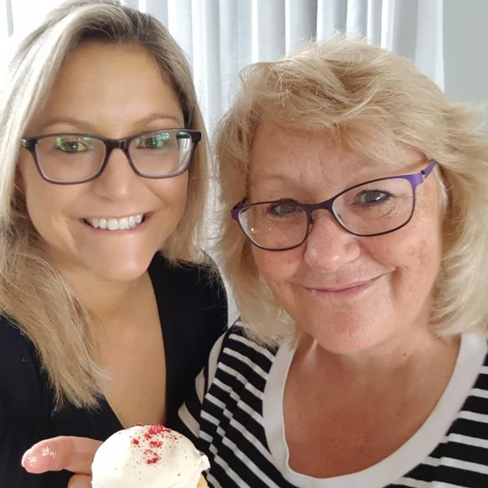 Toni and her mum celebrate Mother's Day after Toni turned a corner in her health battle.