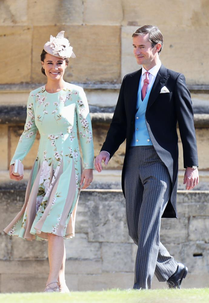 Pippa Middleton, who is pregnant with her first child,  and husband James Matthews.