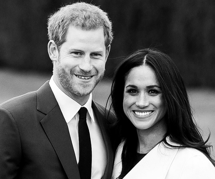 Prince Harry and Meghan Markle at the announcement of the their engagement.