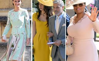 The celebrity guests at the royal wedding