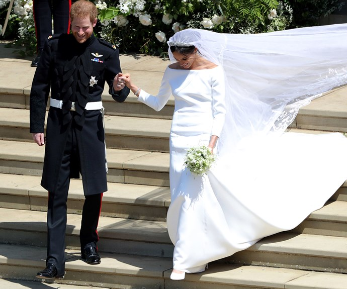 The newly wed Duke and Duchess of Sussex.