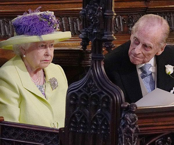 She's still the boss! The Queen told Philip to keep waving.
