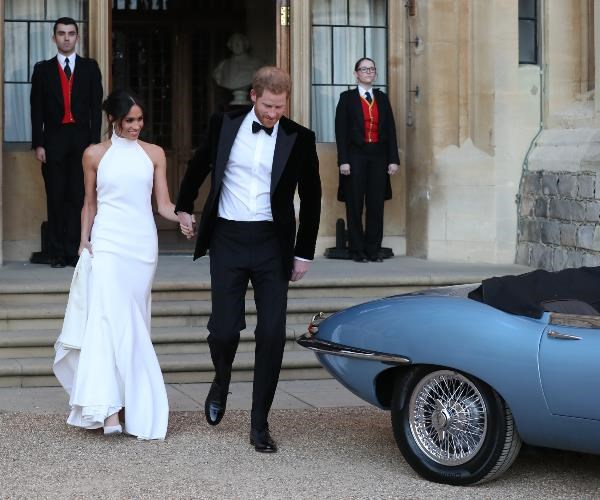 The new-royal swapped her elegant wedding dress for something a little bit more va-va-voom!