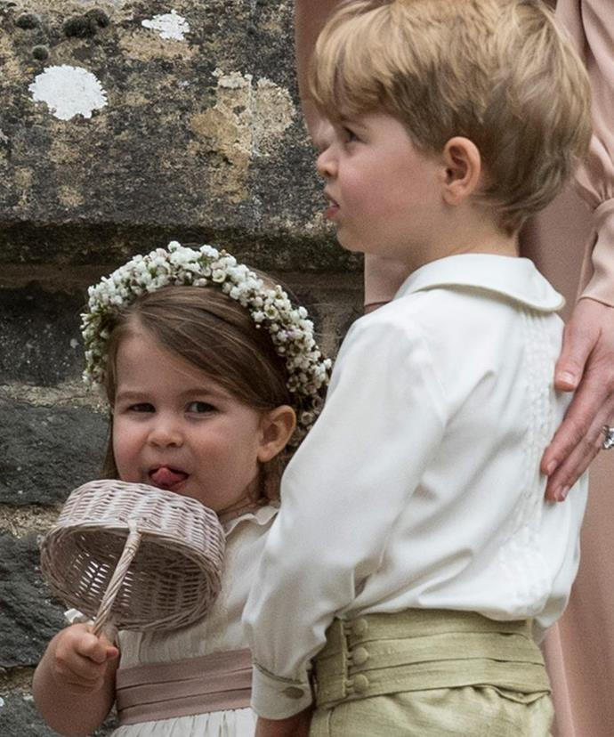 We loved watching them reprise their roles at their Uncle Harry's big day!