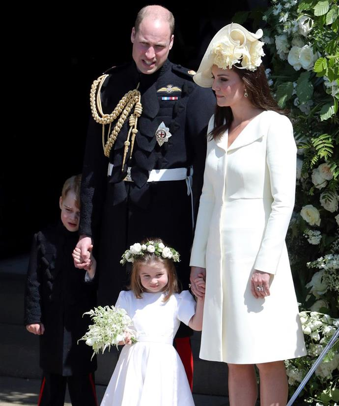 Princess Charlotte and Prince George stole the show at Prince Harry and Duchess Meghan's wedding too.