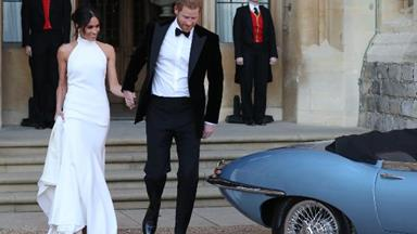 Meghan Markle changes into a second stunning royal wedding dress ahead of wedding reception at Frogmore House