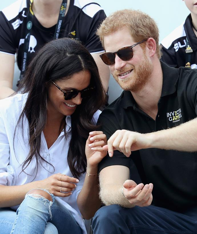 Prince Harry and Meghan Markle at the Invictus Games, held last year in Canada.