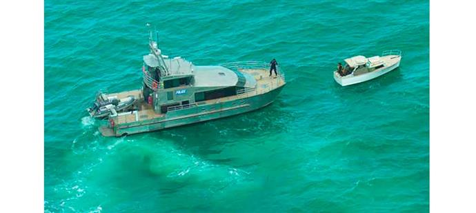After two harrowing days at sea, the relieved father and daughter were overjoyed to be towed back to Waiheke by a police launch.
