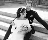 Royal perfection! Prince Harry and Meghan Markle's official wedding portraits have been released