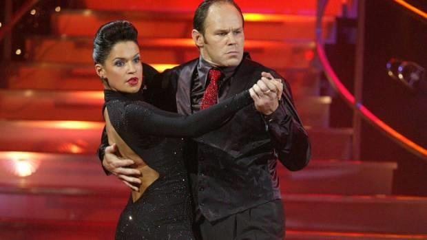 Rachel dances with former All Black Josh Kronfeld in the fifth season of the show.
