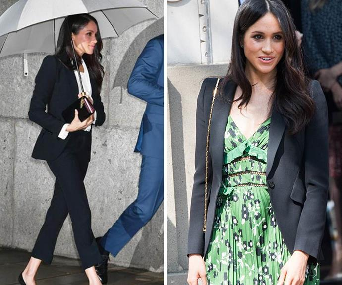"[Meghan Markle](https://www.nowtolove.co.nz/celebrity/royals/prince-harry-and-meghan-markle-official-wedding-photos-37846|target=""_blank"") made headlines when she stepped-up her sartorial style wearing an Alexander McQueen pant suit to the Endeavour Fund Awards in February. Proving she's learned from her soon-to-be royal in-laws, the former actress rewore her Alexander McQueen blazer, this time with a gorgeous green floral dress by Self Portrait to a special Invictus Games reception hosted by Australian Prime Minster Malcolm Turnbull."