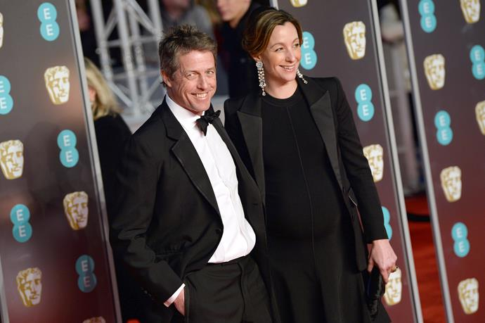 Hugh Grant and Anna Eberstein.