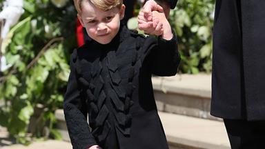 Prince George comforted a crying bridesmaid at the royal wedding