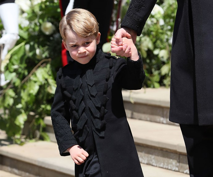 Prince George comforted a crying bridesmaid at the royal wedding