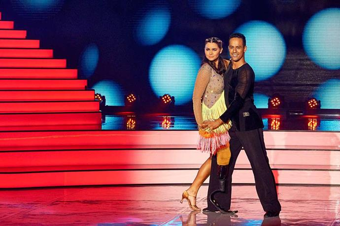 Kristie's husband Jonny is tearing up the dance floor with one of this season's favourites, Jess Quinn.