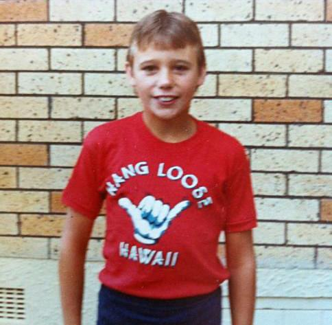 "**Dominic Harvey.** Ah, the 80's. When everyone rocked a slogan t-shirt. The Edge radio host Dom Harvey was no different.  ""I used to love to just hang loose in front of our orange brick house,"" he captioned this throwback."