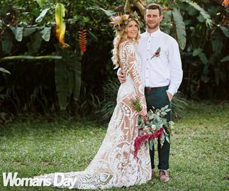 The Block NZ's Cat and Jeremy's romantic Bali wedding