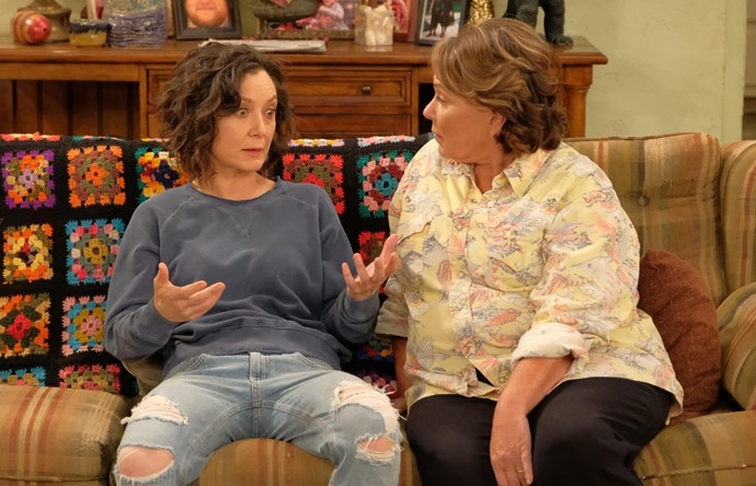 Sara Gilbert and Roseanne Barr starred together in the show.