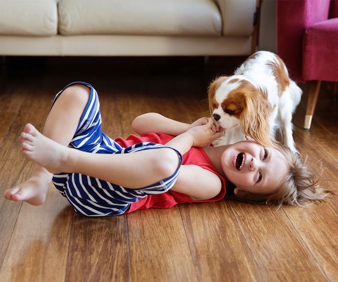 "If you've got a household with a dog and kids, good news! Kids that grow up with dogs can have a lessened allergy risk. In fact, *[Medical Daily](https://www.medicaldaily.com/mans-best-friend-may-boost-immune-system-6-health-benefits-owning-dog-328414|target=""_blank"")* reports that the effect ""is so strong that even pregnant women who live with a dog can still reduce the likelihood of their child developing allergies."""