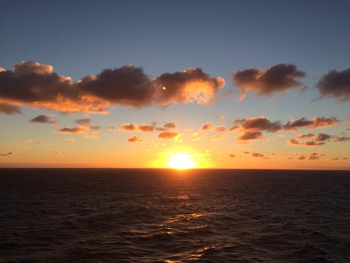 Sunset from the top deck.