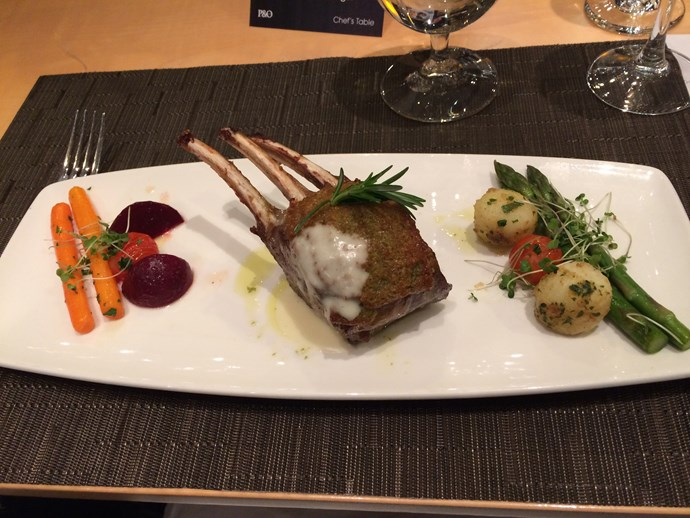 Roasted rack of lamb from the Chef's Table. My photo really doesn't do this meal justice.