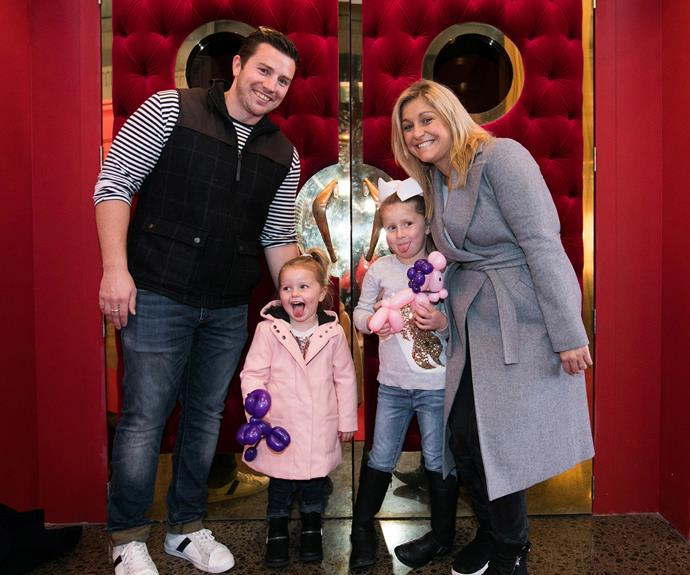 Toni Street with her husband Matt France and their two daughters, Juliette and Mackenzie