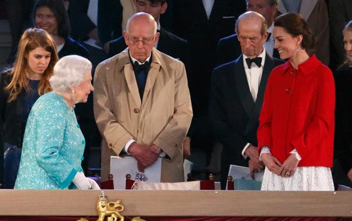 Kate's face practically lit up at the sight of the Queen.