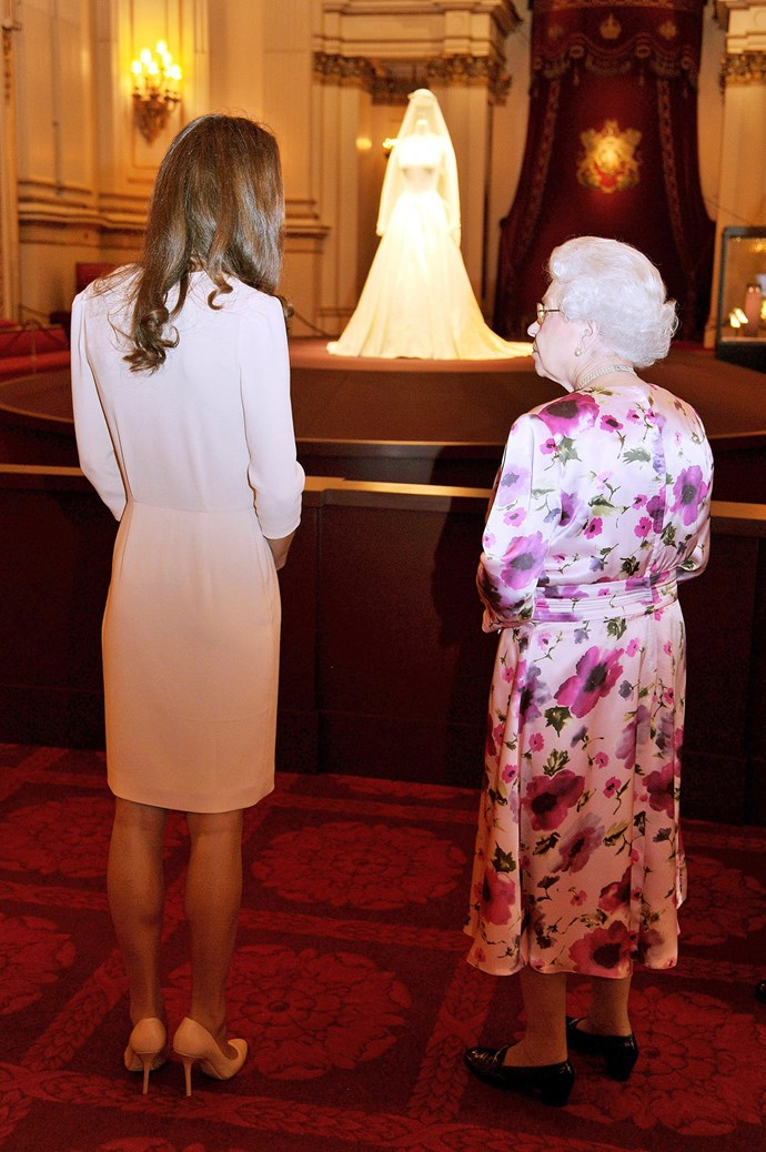 They even did some grandmother-granddaughter bonding while viewing Kate's flawless wedding dress.