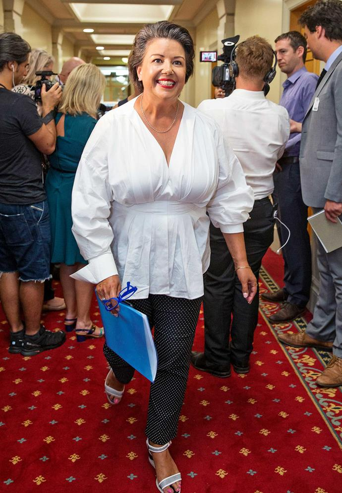 The healthier and happier politician on her return to Parliament after bariatric surgery over the summer break.