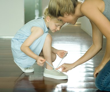 How to teach kids practical life skills like tying shoe laces