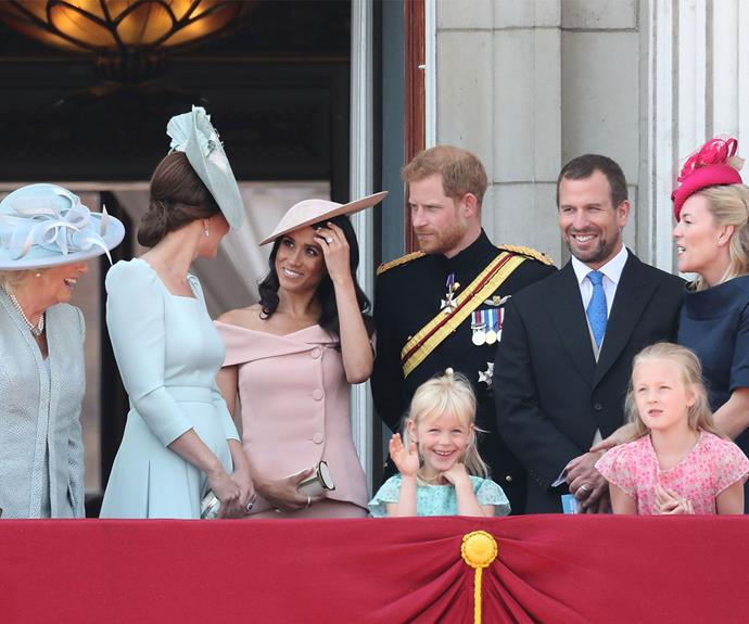 Meghan joined Harry at Trooping the Colour 2018.
