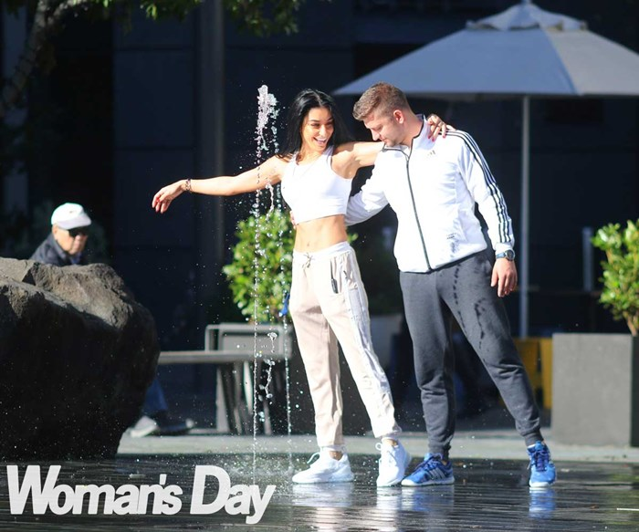 DWTS' Naz Khanjani and Tim Mullayanov's flirty brunch date