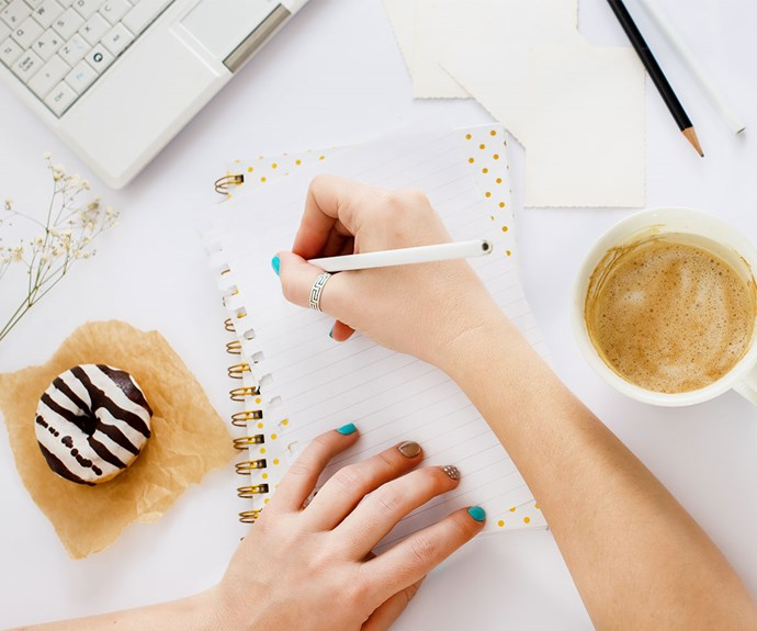 Be aware of your dietary habits by keeping a food diary. A sneaky biscuit at morning and afternoon tea adds up to a whole packet quicker than you think!