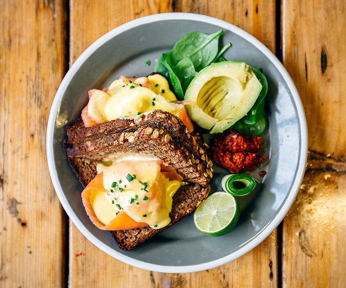 Breakfast sets you up for the day. Go for something high in protein that will fill you up, combined with a 'smart' fat that will help stabilise your blood sugar for longer.